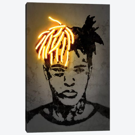 XXXtentacion Canvas Print #OMU215} by Octavian Mielu Canvas Artwork