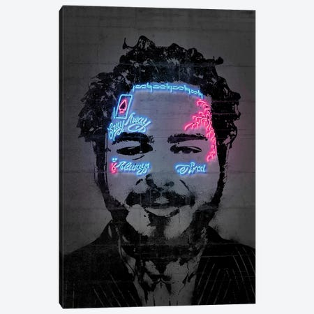 Post Malone Canvas Print #OMU218} by Octavian Mielu Art Print