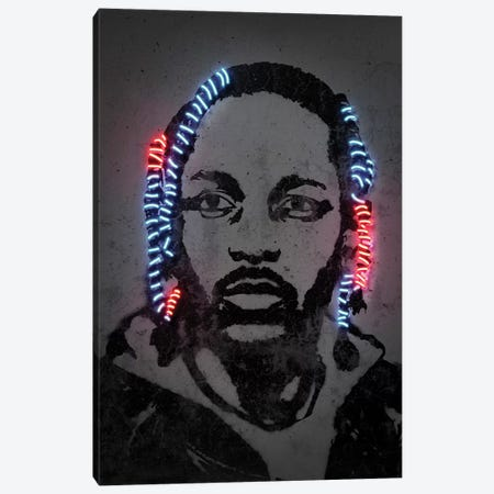 Kendrick Lamar Canvas Print #OMU221} by Octavian Mielu Canvas Artwork