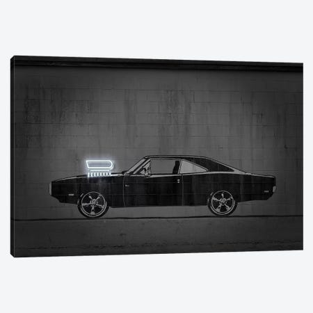 Charger Canvas Print #OMU227} by Octavian Mielu Art Print
