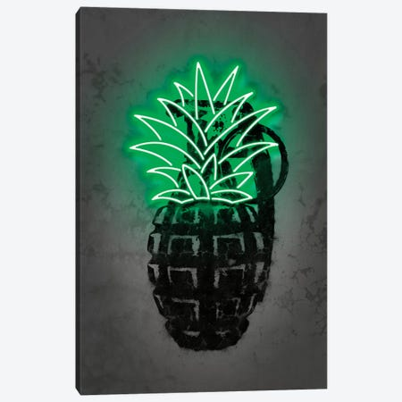 Pineapple Canvas Print #OMU231} by Octavian Mielu Canvas Print