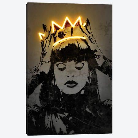 Rihanna Canvas Print #OMU232} by Octavian Mielu Canvas Art Print