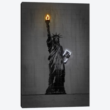 Statue Of Liberty Canvas Print #OMU233} by Octavian Mielu Canvas Art Print