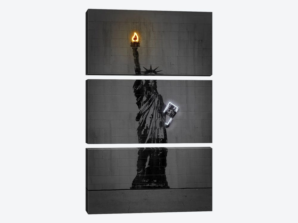 Statue Of Liberty by Octavian Mielu 3-piece Art Print