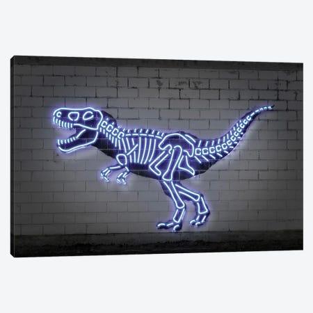 T-Rex Skeleton Canvas Print #OMU235} by Octavian Mielu Canvas Wall Art