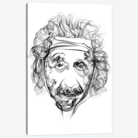Albert Einstein Canvas Print #OMU26} by Octavian Mielu Art Print