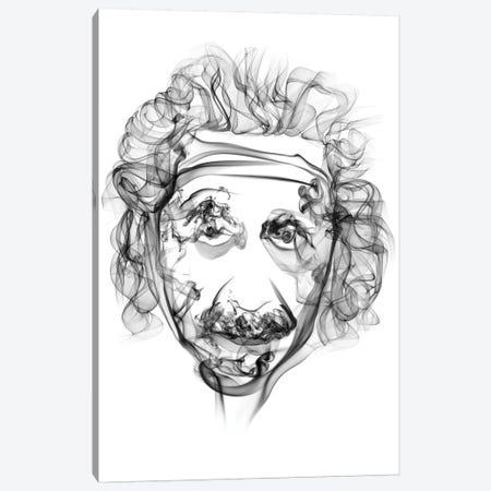 Albert Einstein Canvas Print #OMU26} by Octavian Mielu Art Print