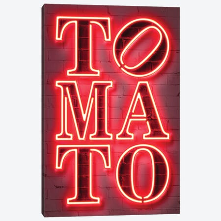 Tomato Canvas Print #OMU281} by Octavian Mielu Canvas Wall Art