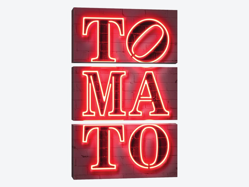 Tomato by Octavian Mielu 3-piece Canvas Wall Art
