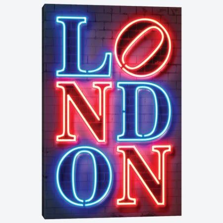 London Neon Canvas Print #OMU293} by Octavian Mielu Canvas Print