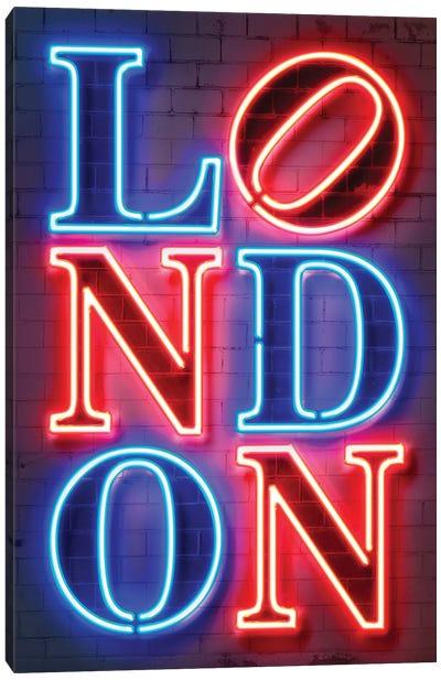 London Neon Canvas Art Print