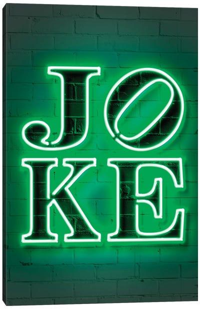 Joke Neon Canvas Art Print