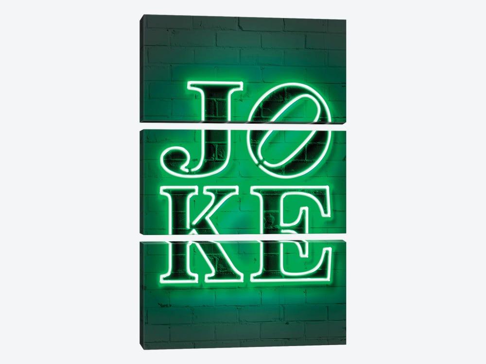 Joke Neon by Octavian Mielu 3-piece Canvas Artwork
