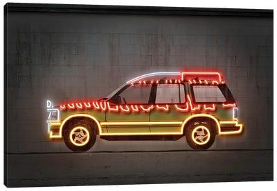 Jurassic Car Canvas Art Print