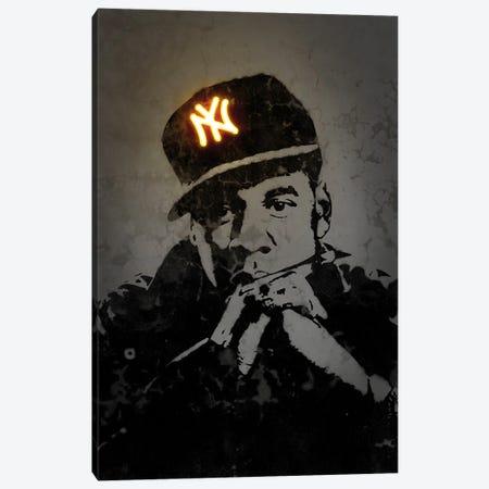 Jay Z Canvas Print #OMU323} by Octavian Mielu Canvas Art Print