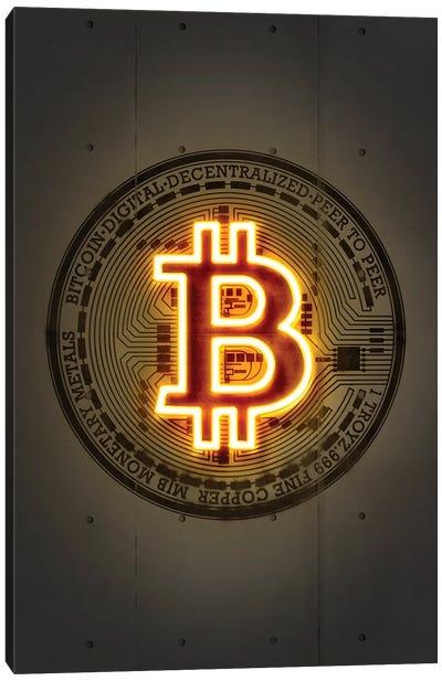 Bitcoin Canvas Art Print
