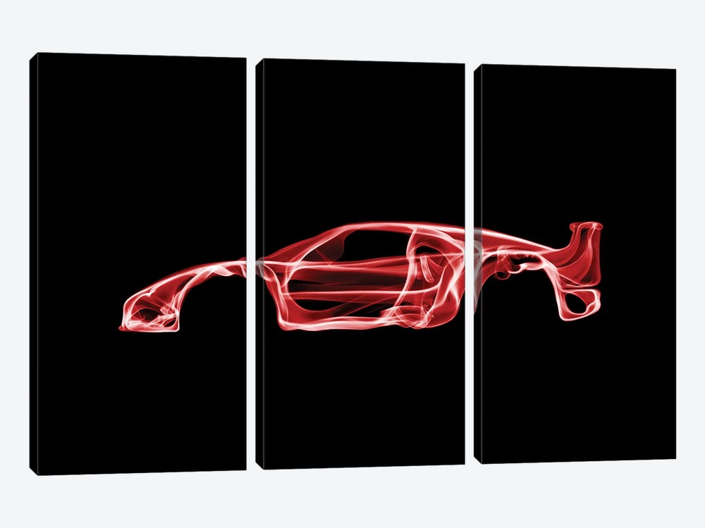 Ferrari F40 by Octavian Mielu 3-piece Canvas Wall Art
