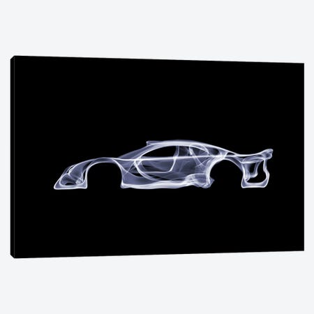 Mercedes-Benz CLK GTR Canvas Print #OMU51} by Octavian Mielu Art Print