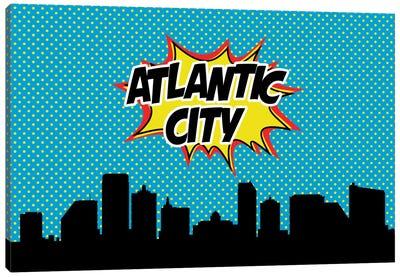 Comic Book Skyline Series: Atlantic City Canvas Print #OMU60