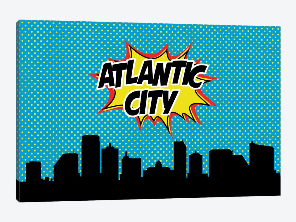 Comic Book Skyline Series: Atlantic City by Octavian Mielu 1-piece Canvas Art