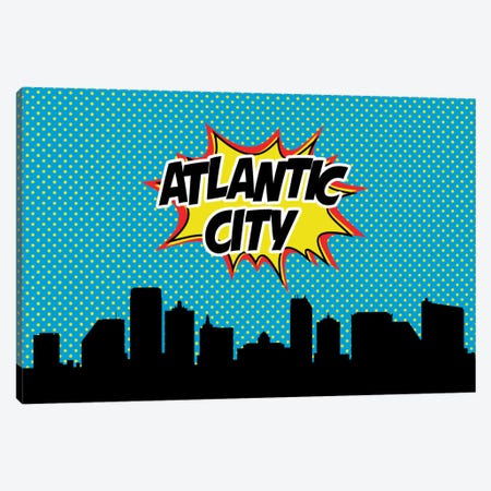 Atlantic City Canvas Print #OMU60} by Octavian Mielu Canvas Wall Art