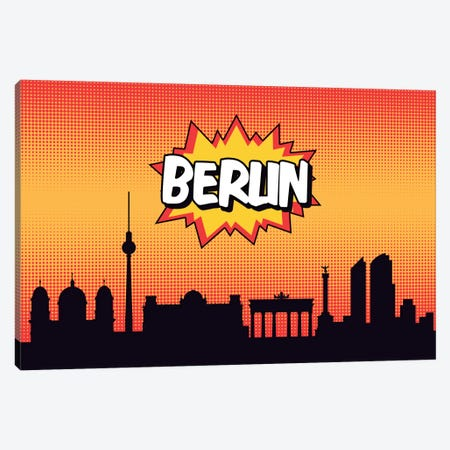 Berlin Canvas Print #OMU62} by Octavian Mielu Canvas Art