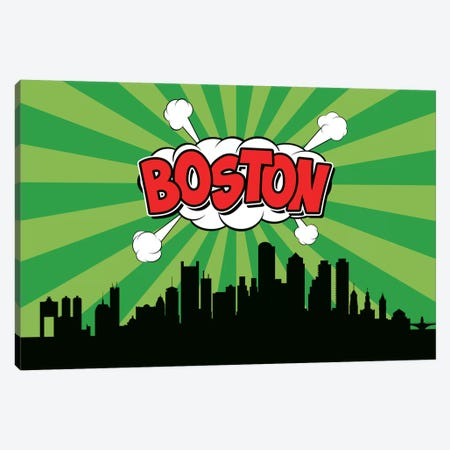 Boston Canvas Print #OMU63} by Octavian Mielu Canvas Wall Art