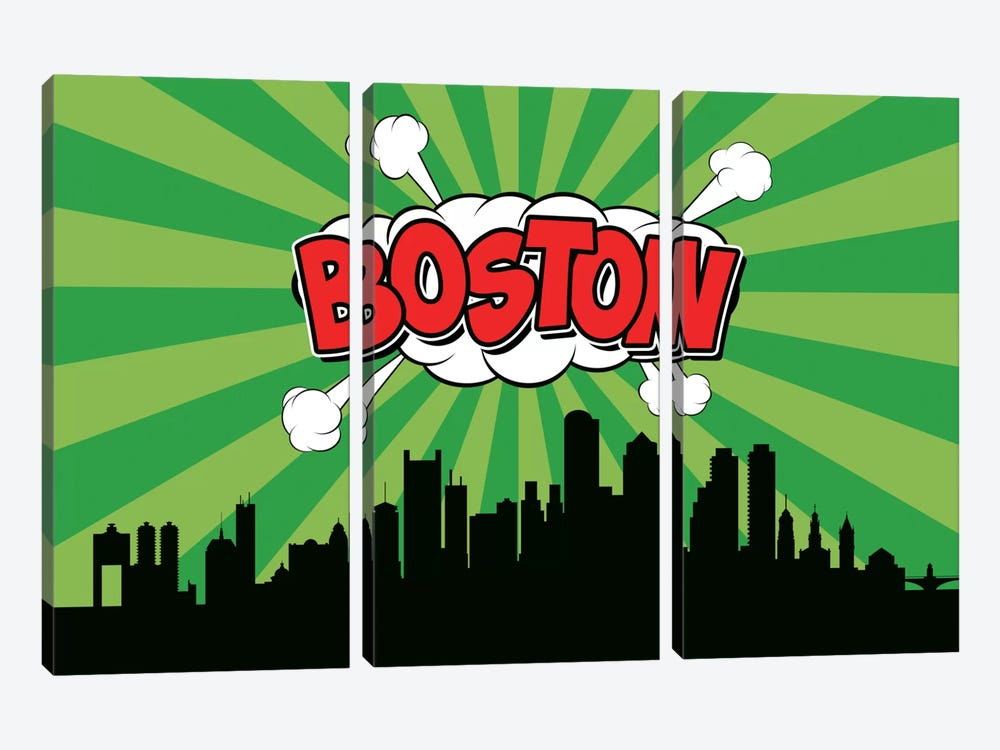 Boston by Octavian Mielu 3-piece Art Print