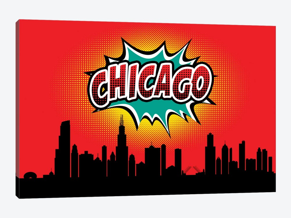Chicago by Octavian Mielu 1-piece Canvas Art