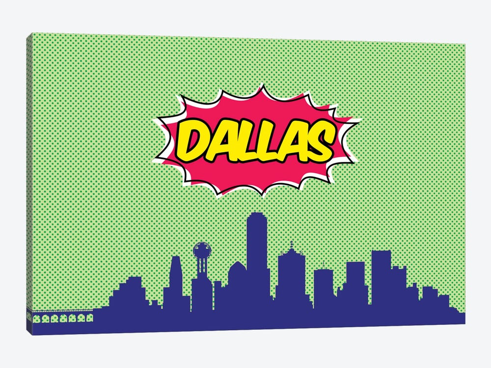 Comic Book Skyline Series: Dallas by Octavian Mielu 1-piece Art Print