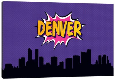 Comic Book Skyline Series: Denver Canvas Art Print
