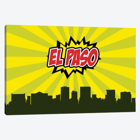 El Paso Canvas Print #OMU68} by Octavian Mielu Canvas Wall Art