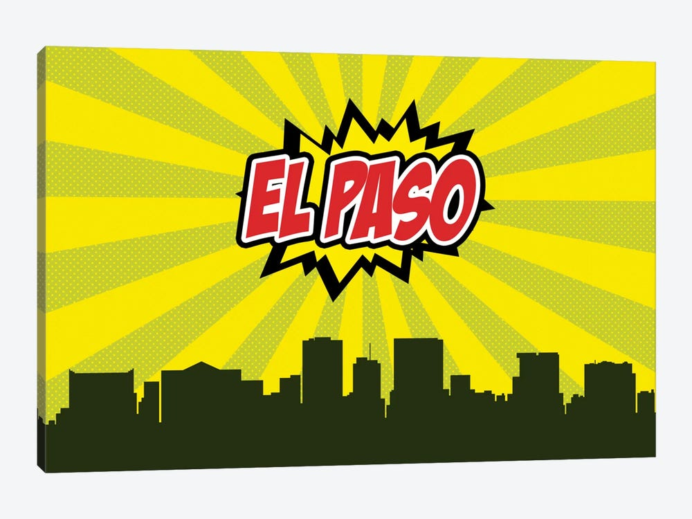 Comic Book Skyline Series: El Paso by Octavian Mielu 1-piece Canvas Wall Art