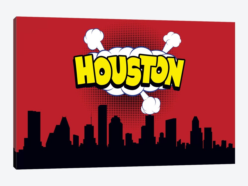 Comic Book Skyline Series: Houston by Octavian Mielu 1-piece Art Print
