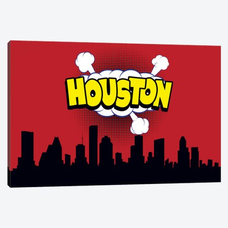 Houston Canvas Print #OMU70} by Octavian Mielu Canvas Art Print