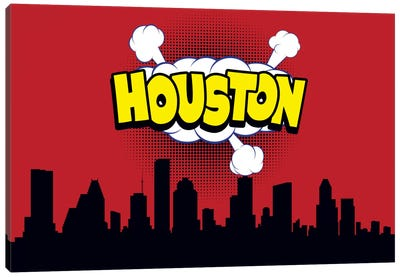 Houston Canvas Art Print