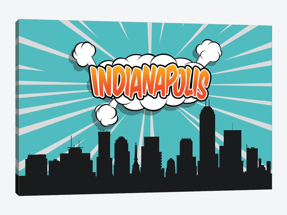 Indianapolis by Octavian Mielu 1-piece Canvas Wall Art