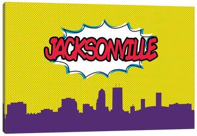 Comic Book Skyline Series: Jacksonville Canvas Print #OMU72