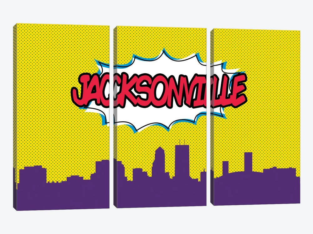 Comic Book Skyline Series: Jacksonville 3-piece Art Print