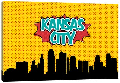 Comic Book Skyline Series: Kansas City Canvas Print #OMU73