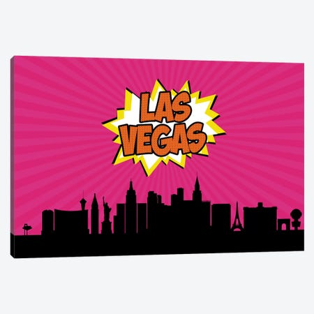 Las Vegas Canvas Print #OMU74} by Octavian Mielu Canvas Artwork