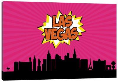 Comic Book Skyline Series: Las Vegas Canvas Print #OMU74