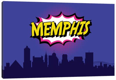 Comic Book Skyline Series: Memphis Canvas Art Print