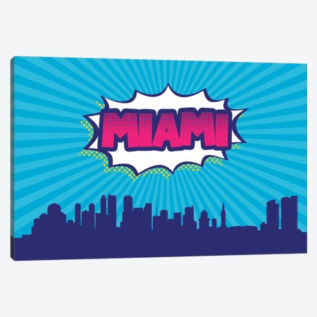 Miami Canvas Print #OMU78} by Octavian Mielu Art Print