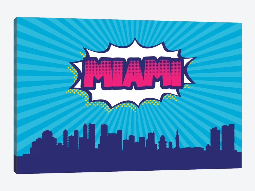 Miami by Octavian Mielu 1-piece Canvas Print