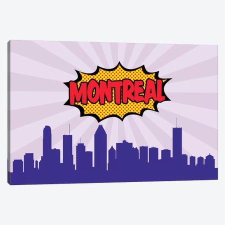 Montreal Canvas Print #OMU79} by Octavian Mielu Art Print