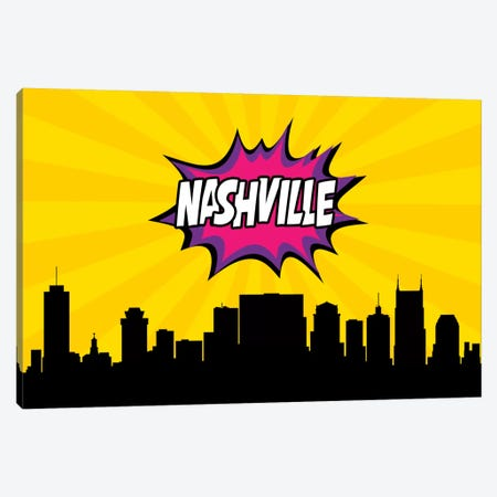 Nashville Canvas Print #OMU80} by Octavian Mielu Canvas Wall Art