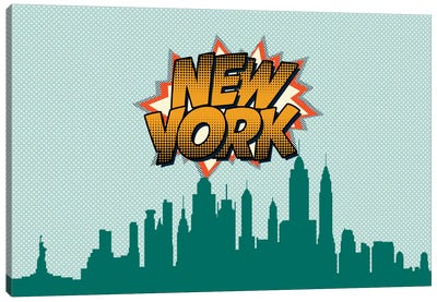 Comic Book Skyline Series: New York City Canvas Art Print