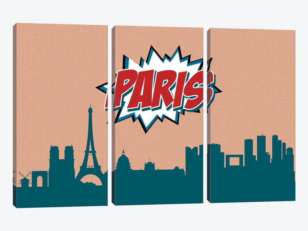 Paris by Octavian Mielu 3-piece Canvas Artwork