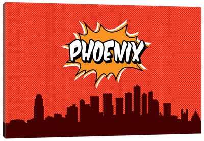 Comic Book Skyline Series: Phoenix Canvas Art Print